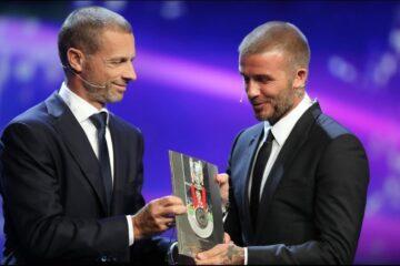 David Beckham recibe el premio Presidente de la UEFA