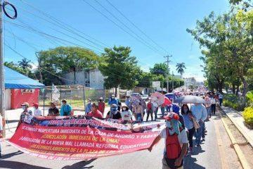 Advierte CNTE 7 marcha regional para este martes